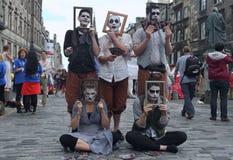 Εκτελεστής κατά τη διάρκεια του φεστιβάλ περιθωρίου του Εδιμβούργου στοκ φωτογραφίες με δικαίωμα ελεύθερης χρήσης