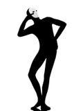εκτελεστής μασκών mime ικανοποιημένος Στοκ Εικόνα