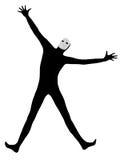 Εκτελεστής mime με τον ευτυχή χαιρετισμό μασκών Στοκ Φωτογραφίες