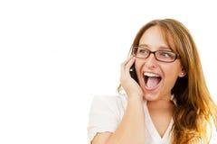 εκτελεστικές τηλεφωνικές νεολαίες Στοκ Εικόνες
