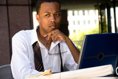 Εκτελεστικός επιχειρηματίας αφροαμερικάνων στοκ εικόνα