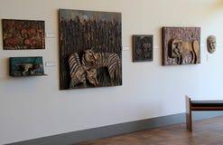Εκτενές έκθεμα του Bernard Langlais, Μουσείο Τέχνης Ogunquit, Μαίην, 2016 Στοκ Φωτογραφία