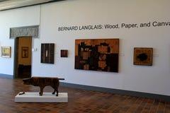 Εκτενές έκθεμα του Bernard Langlais, Μουσείο Τέχνης Ogunquit, Μαίην, 2016 Στοκ φωτογραφία με δικαίωμα ελεύθερης χρήσης