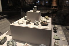 Εκτενές έκθεμα των μεταλλευμάτων που βρίσκονται μουσείο της Νέας Υόρκης, κράτος, 2016 Στοκ φωτογραφία με δικαίωμα ελεύθερης χρήσης