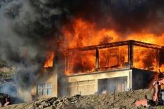 Εκτενής πυρκαγιά στοκ φωτογραφία