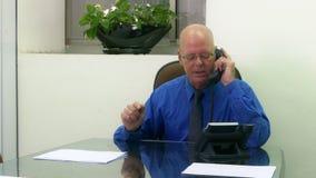 Εκτελεστικός στην αρχή στο τηλέφωνο, που ανατρέπεται απόθεμα βίντεο