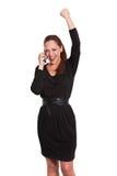 Εκτελεστικό womwn στο τηλέφωνο κυττάρων Στοκ φωτογραφία με δικαίωμα ελεύθερης χρήσης