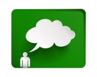 λεκτικό διάνυσμα εγγράφου απεικόνισης στοιχείων διαλογικού παραθύρου σχεδίου σύννεφων φυσαλίδων Στοκ Φωτογραφία