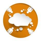 λεκτικό διάνυσμα εγγράφου απεικόνισης στοιχείων διαλογικού παραθύρου σχεδίου σύννεφων φυσαλίδων Στοκ Εικόνες