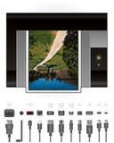 εκτυπωτής λιμένων Laser$l*jet καλ&omeg διανυσματική απεικόνιση