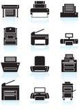 εκτυπωτής μηχανών εικονιδίων αντιγράφων απεικόνιση αποθεμάτων