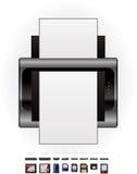 εκτυπωτής μνήμης Laser$l*jet καρτών ελεύθερη απεικόνιση δικαιώματος