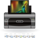 εκτυπωτής προαιρετικών δυνατοτήτων Laser$l*jet εικονιδίων απεικόνιση αποθεμάτων