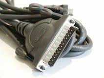 εκτυπωτής υπολογιστών καλωδίων Στοκ Εικόνα