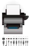 εκτυπωτής Laser$l*jet διανυσματική απεικόνιση