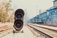 Εκτός από τα φω'τα διαδρομής σιδηροδρόμου Στοκ Φωτογραφίες