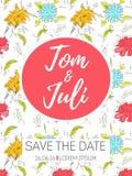 Εκτός από την ημερομηνία, γαμήλια πρόσκληση Στοκ φωτογραφία με δικαίωμα ελεύθερης χρήσης