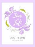 Εκτός από την ημερομηνία, γαμήλια πρόσκληση Στοκ Φωτογραφία