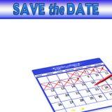 Εκτός από την ημερομηνία - υπόβαθρο - ημερολόγιο διανυσματική απεικόνιση