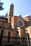 Εκτός από τη βασιλική της ιερής αποκατάστασης από μέσω Cesatotti στην Πάδοβα στο Βένετο (Ιταλία) Στοκ Εικόνα