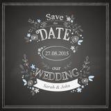 Εκτός από τη γαμήλια κάρτα ημερομηνίας Στοκ Εικόνες