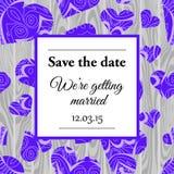 Εκτός από τη γαμήλια πρόσκληση ημερομηνίας Στοκ φωτογραφία με δικαίωμα ελεύθερης χρήσης