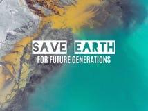 Εκτός από τη γη για τις μελλοντικές γενιές επάνω από την όψη Surreali Στοκ Εικόνες