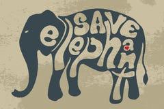 Εκτός από τον ελέφαντα σώστε την άγρια φύση Στοκ εικόνες με δικαίωμα ελεύθερης χρήσης