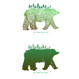 Εκτός από τον πλανήτη + την αρκούδα Ελεύθερη απεικόνιση δικαιώματος