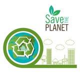 εκτός από το ανακύκλωσης εικονίδιο eco πλανητών απεικόνιση αποθεμάτων