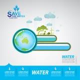 Εκτός από το διάνυσμα νερού ελεύθερη απεικόνιση δικαιώματος