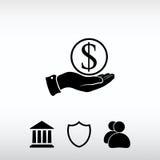 Εκτός από το εικονίδιο χρημάτων, διανυσματική απεικόνιση Επίπεδο ύφος σχεδίου Στοκ Φωτογραφία