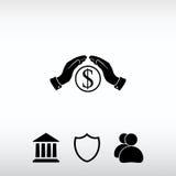 Εκτός από το εικονίδιο χρημάτων, διανυσματική απεικόνιση Επίπεδο ύφος σχεδίου Στοκ φωτογραφία με δικαίωμα ελεύθερης χρήσης