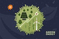 Εκτός από το περιβάλλον και την πράσινη έννοια δύναμης Στοκ φωτογραφία με δικαίωμα ελεύθερης χρήσης