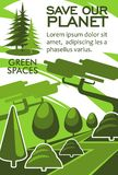Εκτός από το σχέδιο εμβλημάτων eco των πόρων πλανητών και φύσης Στοκ Εικόνες