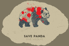 Εκτός από το panda εκτός από την άγρια φύση Στοκ Εικόνες