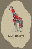 Εκτός από giraffe εκτός από την άγρια φύση Στοκ φωτογραφία με δικαίωμα ελεύθερης χρήσης