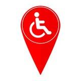 Εκτός λειτουργίας δείκτης αναπηρία χαρτών διανυσματική απεικόνιση