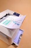 εκτύπωση εκτυπωτών Στοκ εικόνες με δικαίωμα ελεύθερης χρήσης