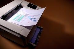 εκτύπωση εκτυπωτών Στοκ Εικόνες