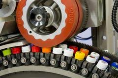 εκτύπωση μαξιλαριών μηχανών στοκ εικόνα