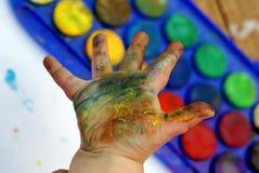 εκτύπωση χεριών Στοκ Φωτογραφίες