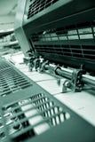 εκτύπωση όφσετ μηχανών Στοκ φωτογραφία με δικαίωμα ελεύθερης χρήσης