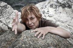 εκφοβισμένη γυναίκα Στοκ Φωτογραφίες
