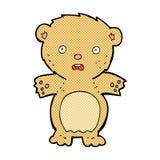 εκφοβισμένος teddy αντέχει τα κωμικά κινούμενα σχέδια Στοκ Φωτογραφία