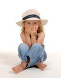 εκφοβισμένο κορίτσι Στοκ εικόνα με δικαίωμα ελεύθερης χρήσης