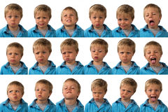 Εκφράσεις - πενταετές παλαιό αγόρι στοκ εικόνα