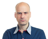 Εκφράσεις του φαλακρού ατόμου - υ στοκ φωτογραφία με δικαίωμα ελεύθερης χρήσης