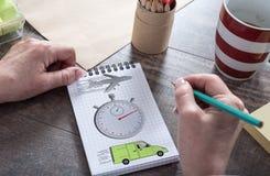 Εκφράστε την έννοια παράδοσης σε ένα σημειωματάριο στοκ εικόνα με δικαίωμα ελεύθερης χρήσης