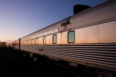 εκφράστε το τραίνο santa Φε στοκ φωτογραφίες